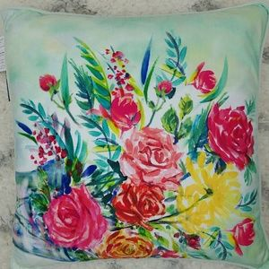 425 South Los Angeles floral 19 x 19 throw pillow